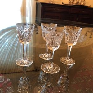Crystal Sherry/Cordial Glasses - Set of 4